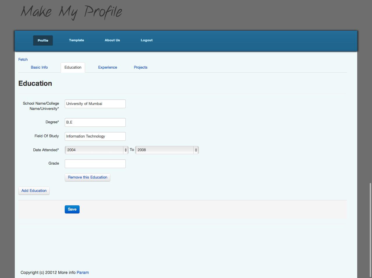 Make Your Resume Rails Mvp Make My Cv Build Mvp Startup